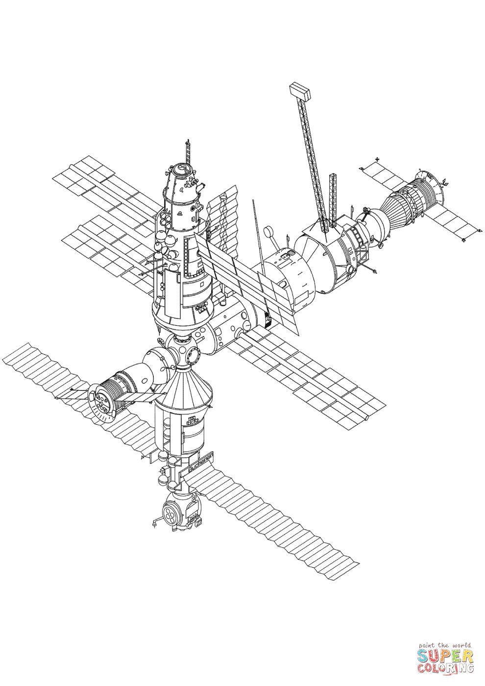 It is a photo of Enterprising International Space Station Drawing
