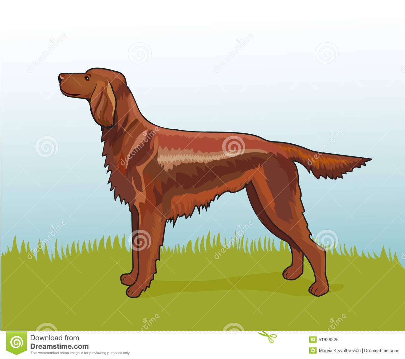 Red Setter clipart #16, Download drawings