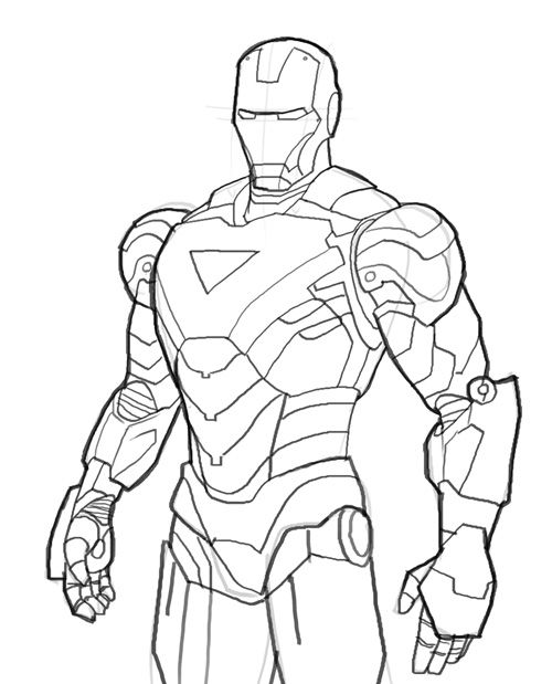 Iron Man coloring #12, Download drawings