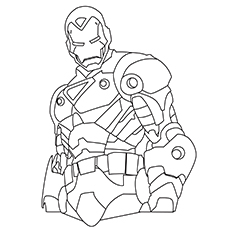 Iron Man coloring #18, Download drawings