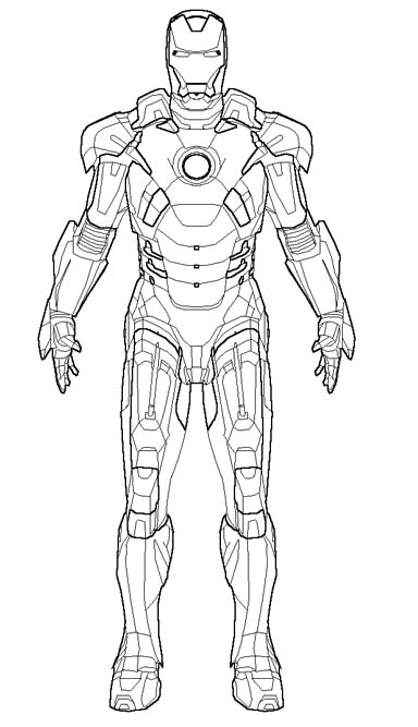 Iron Man coloring #10, Download drawings