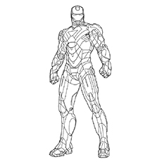 Iron Man coloring #6, Download drawings