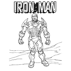Iron Man coloring #11, Download drawings