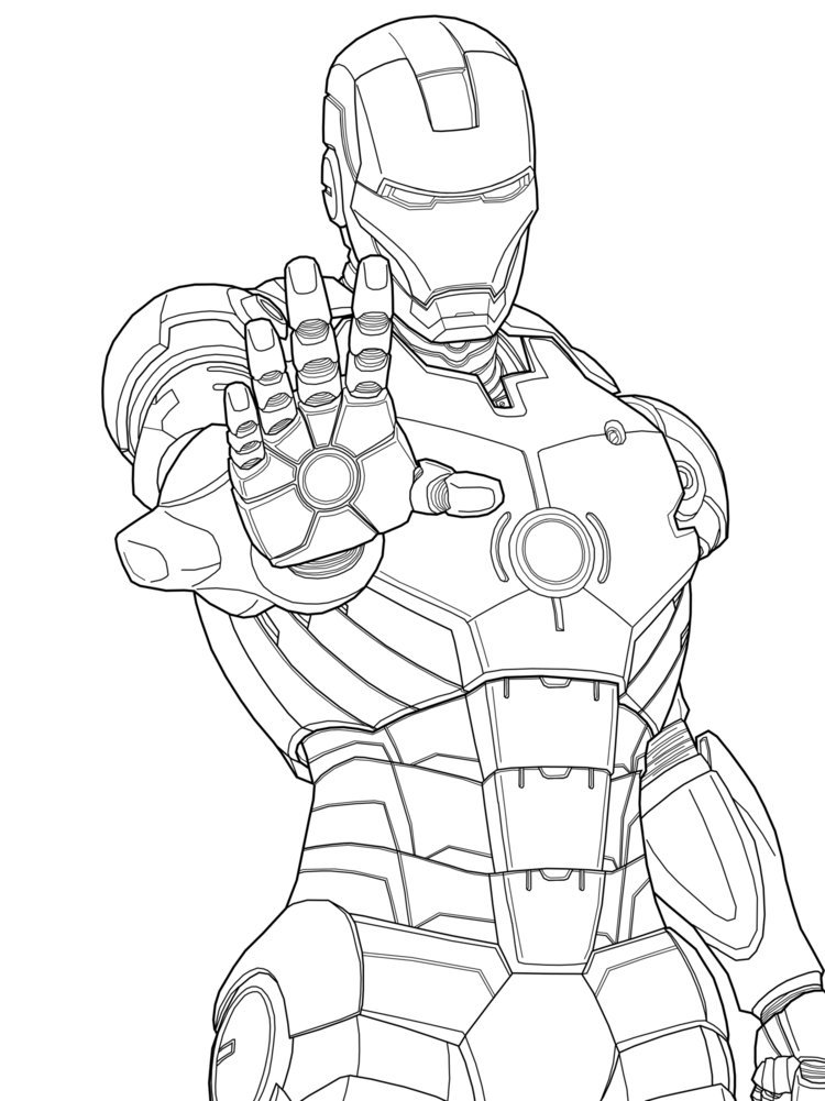 Iron Man coloring #16, Download drawings