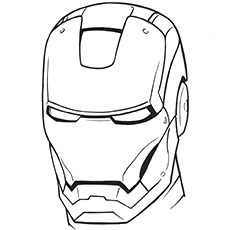Iron Man coloring #19, Download drawings