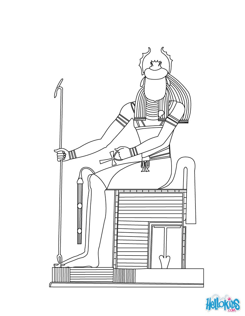 Sekhmet (Deity) coloring #13, Download drawings