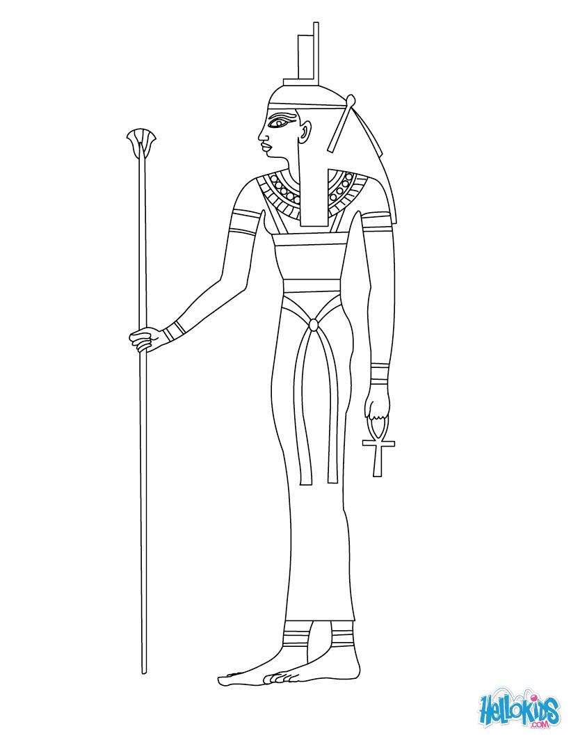 Sekhmet (Deity) coloring #18, Download drawings