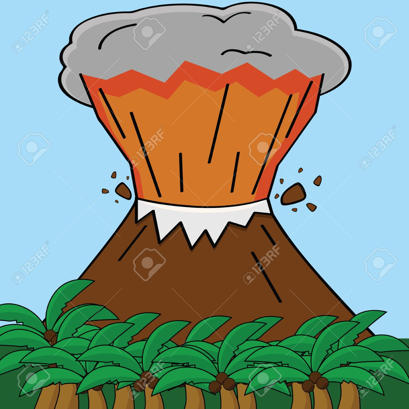 Island Volcano Eruption clipart #17, Download drawings