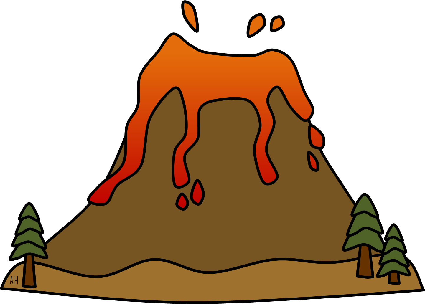 Volcano clipart #3, Download drawings