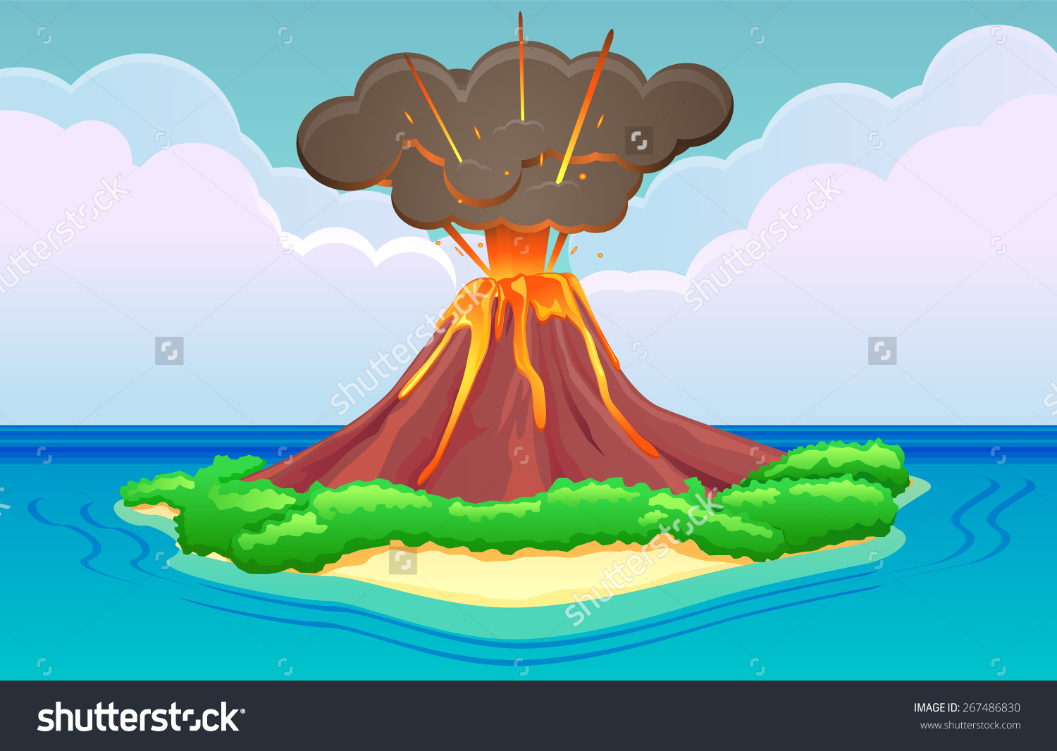 Island Volcano Eruption clipart #11, Download drawings