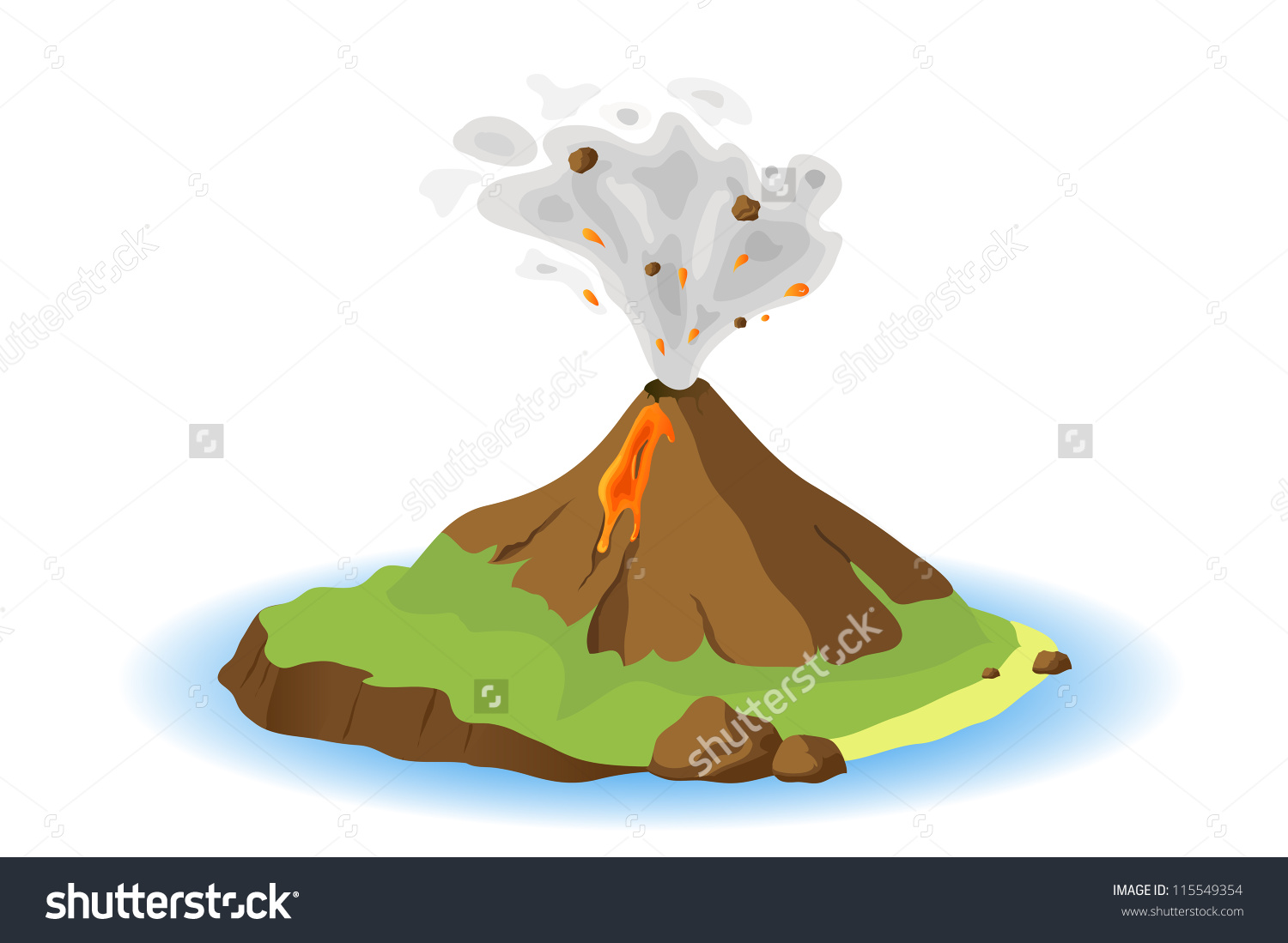Island Volcano Eruption clipart #18, Download drawings