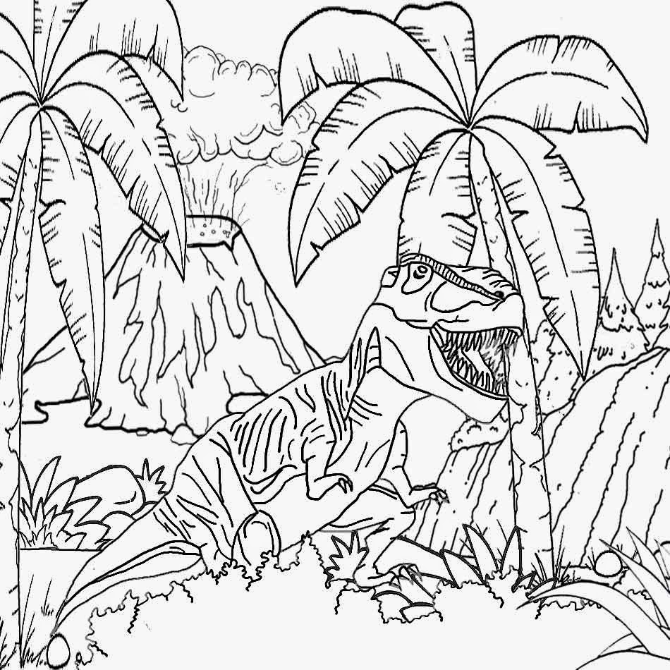 Island Volcano Eruption coloring #10, Download drawings