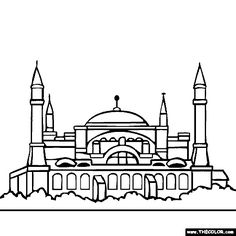 Pakistan Places Monuments Buildings And Cities Coloring Pages