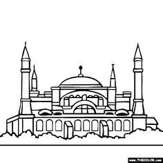 Pakistan Places Monuments Buildings Cities Coloring Pages