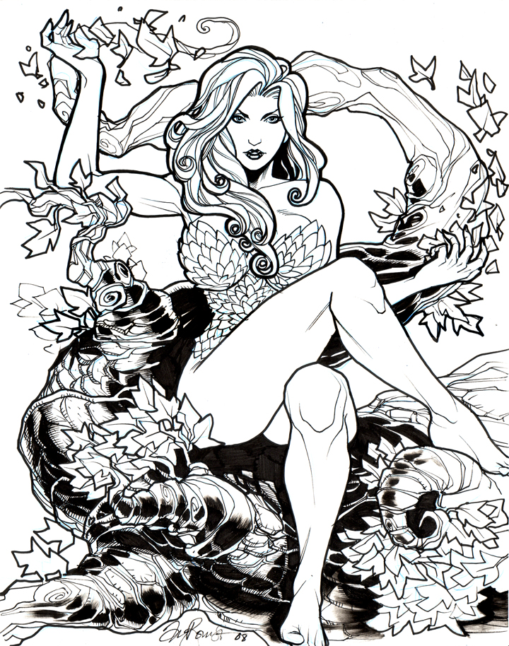 Poison Ivy coloring #2, Download drawings