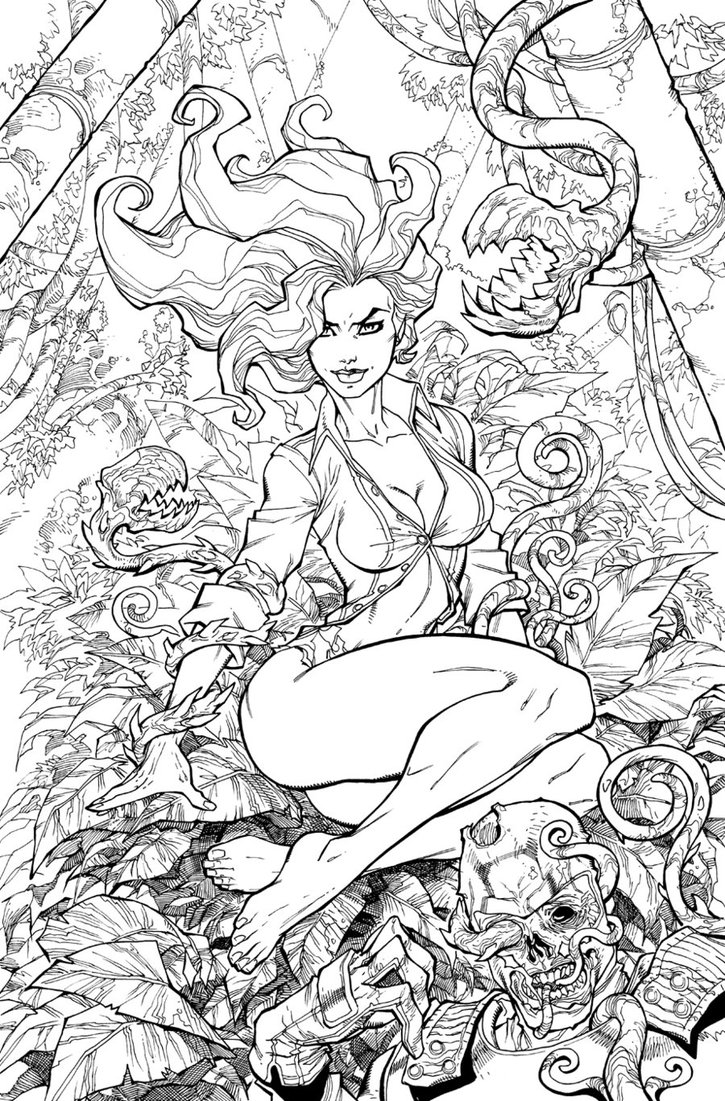 Poison Ivy coloring #5, Download drawings