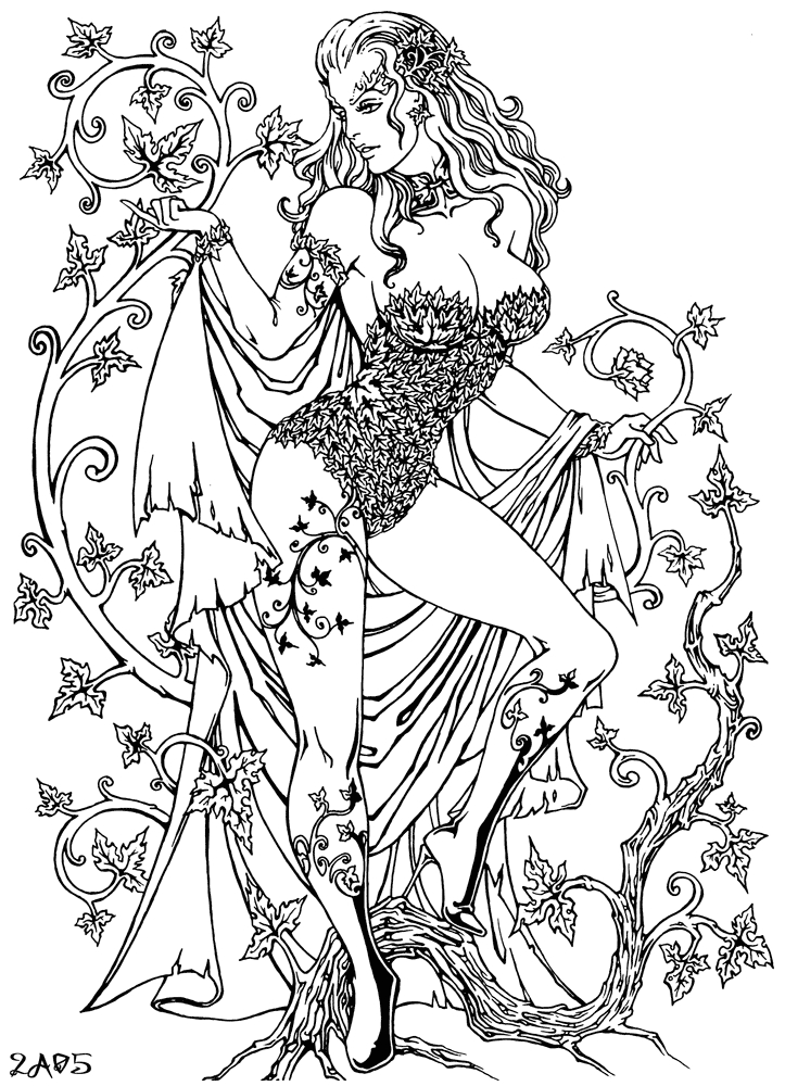 Ivy coloring #17, Download drawings