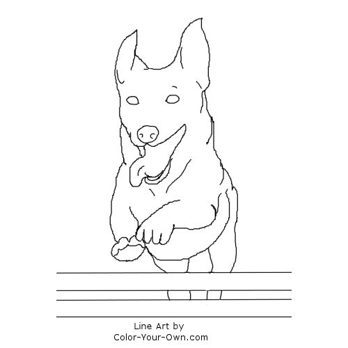 jack russell coloring pages - photo#14