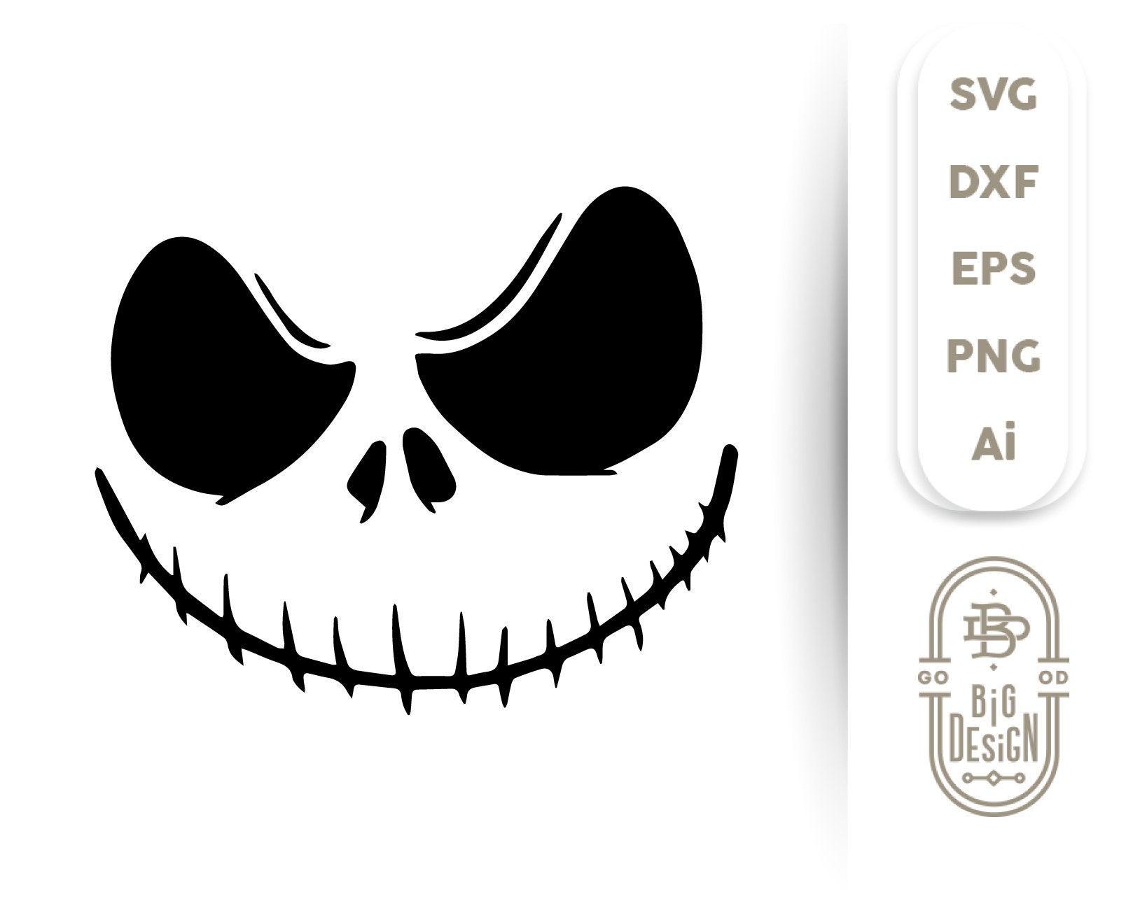 jack skellington face svg #1106, Download drawings