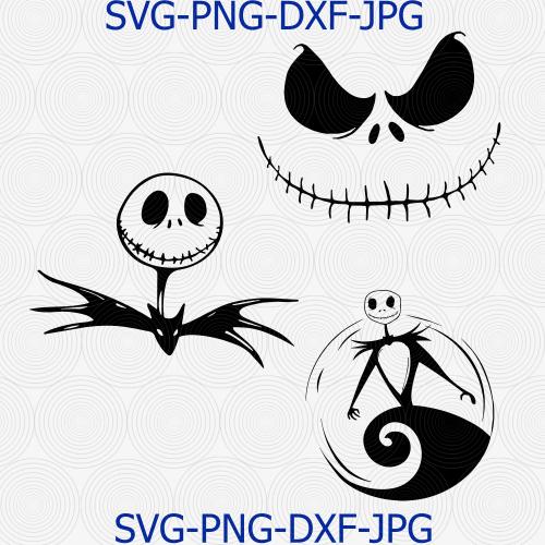 jack skellington face svg #1101, Download drawings