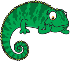 Jackson's Chameleon clipart #12, Download drawings