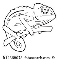 Jackson's Chameleon clipart #14, Download drawings