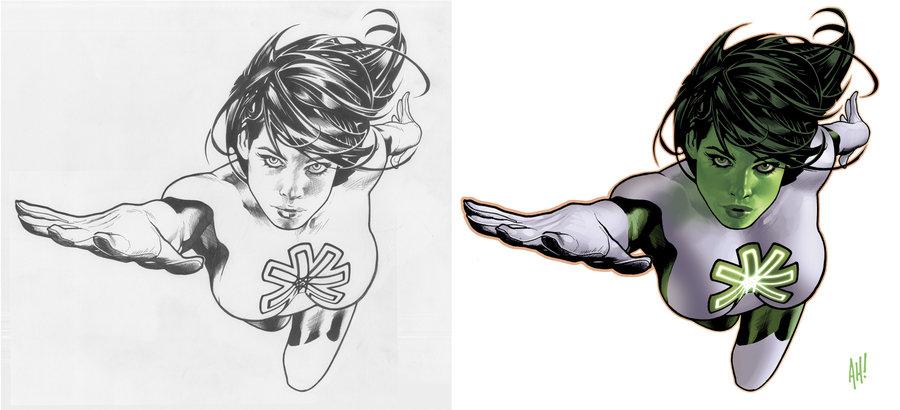 Jade (DC Comics) coloring #10, Download drawings
