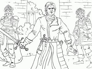 Jaime Lannister coloring #20, Download drawings
