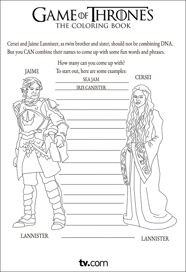 Jaime Lannister coloring #8, Download drawings
