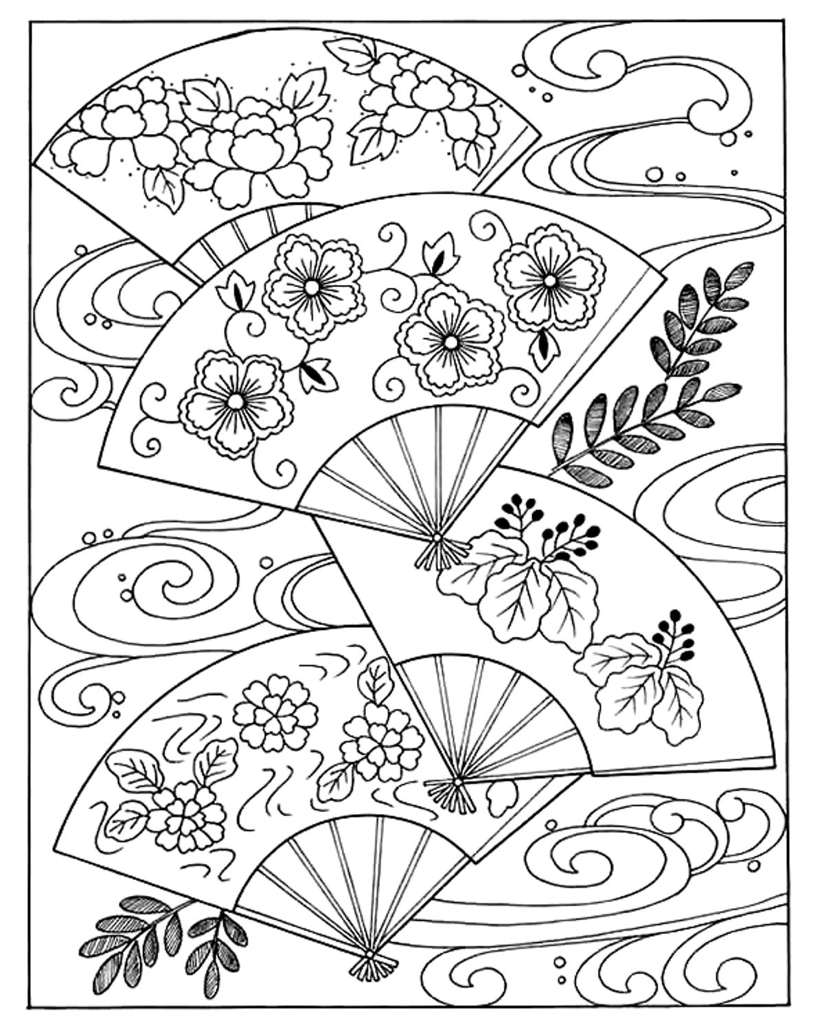 Japanese coloring #16, Download drawings
