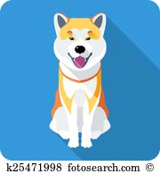 Japanese Akita clipart #6, Download drawings