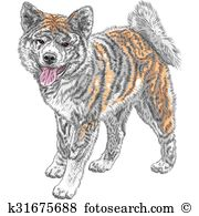 Japanese Akita clipart #10, Download drawings