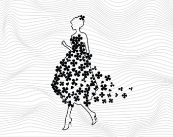 White Dress svg #1, Download drawings