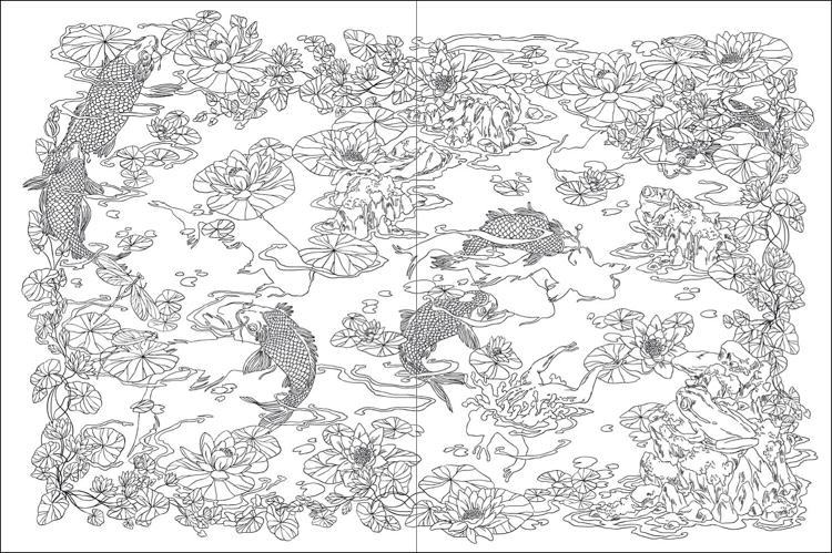 Japanese coloring #11, Download drawings