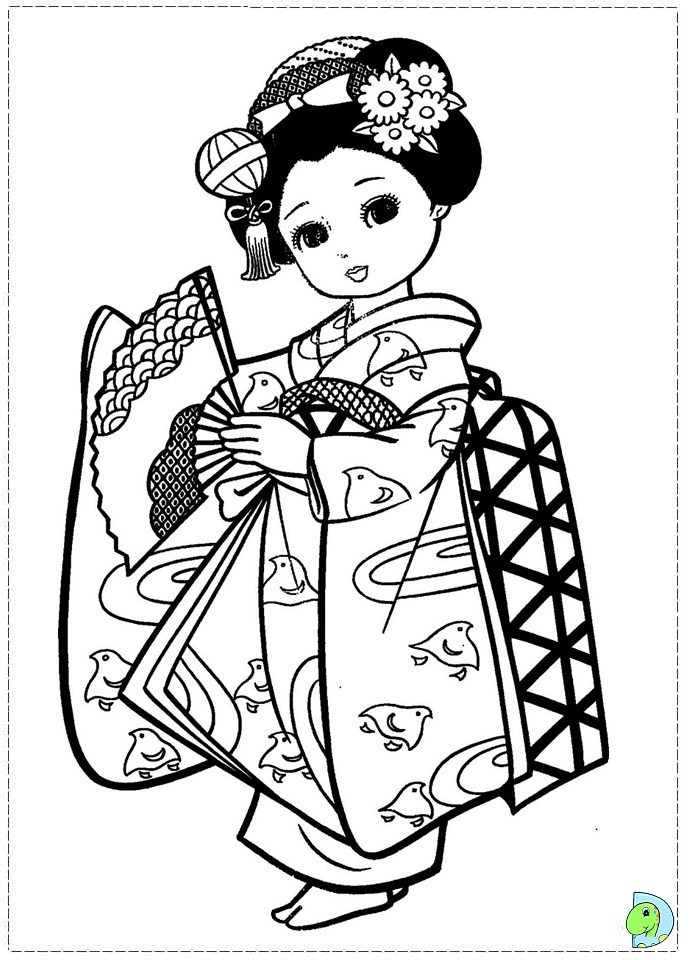 Japanese coloring #4, Download drawings