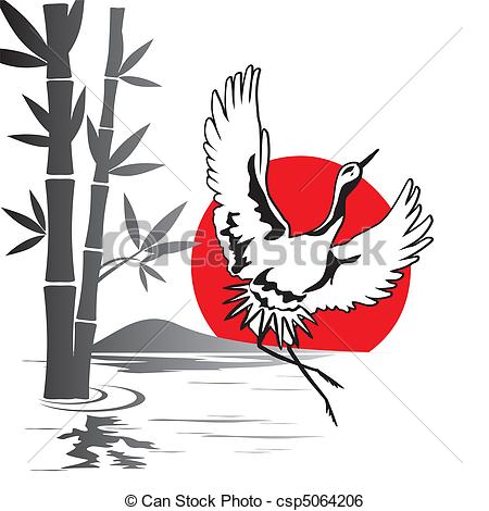 Japanese Crane clipart #1, Download drawings