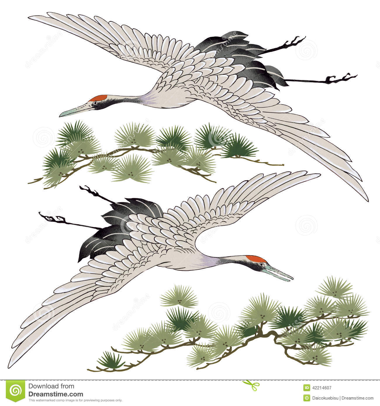 Japanese Crane clipart #4, Download drawings