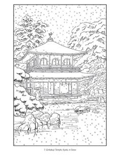 Japanese Garden Coloring 10 Download Drawings