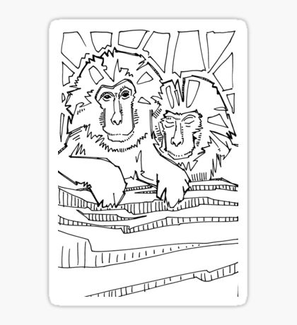 Japanese Macaque coloring #1, Download drawings
