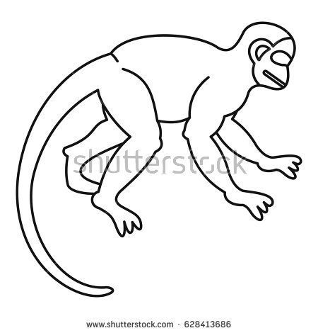Japanese Macaque coloring #8, Download drawings