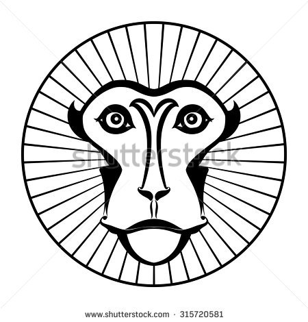 Japanese Macaque coloring #5, Download drawings