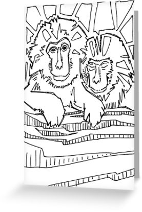 Japanese Macaque coloring #20, Download drawings