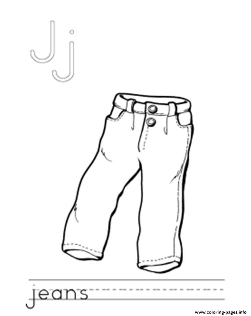 Jeans coloring #10, Download drawings