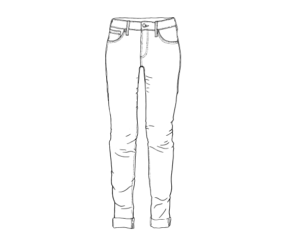 Jeans coloring #14, Download drawings
