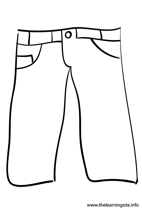 Jeans coloring #17, Download drawings