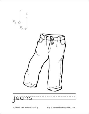 Jeans coloring #12, Download drawings