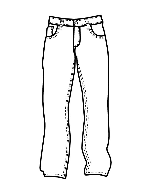 Jeans coloring #5, Download drawings