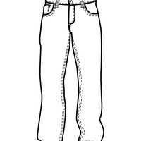Jeans coloring #3, Download drawings