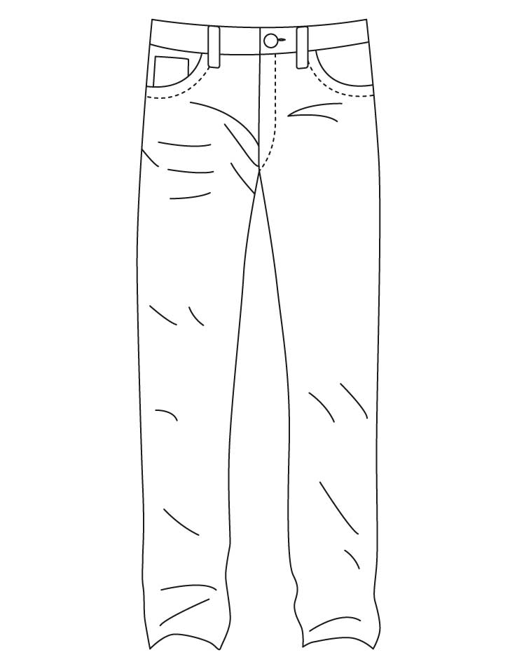 Jeans coloring #1, Download drawings