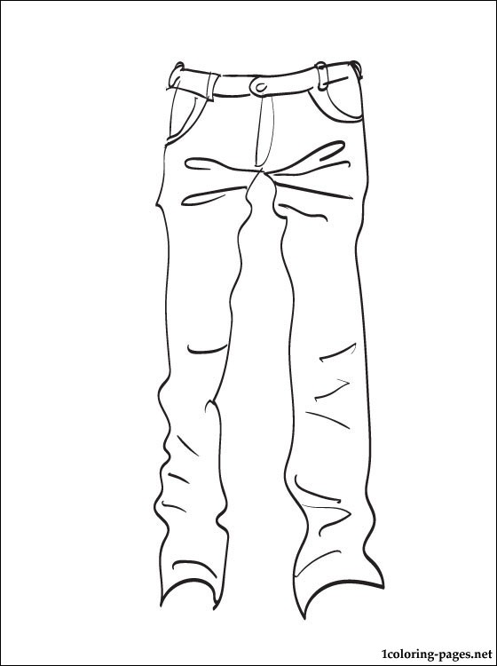 Jeans coloring #15, Download drawings